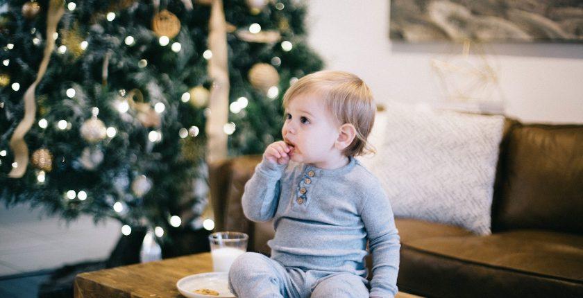 Enfant collation temps des fêtes