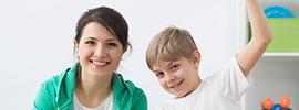Professionnelle et un enfant